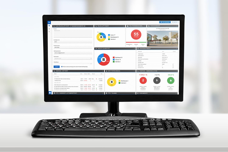 Granlund Manager -ohjelmiston käyttöliittymä on tehty mahdollisimman helpoksi käyttää.