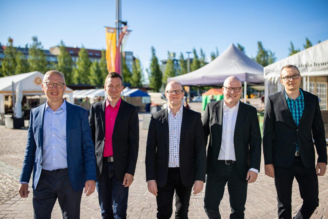 Granlund Mikkeli ja HTTC, Olli Tirkkonen, Harri Kaipainen, Tero Lampinen, Teemu Saarinen, Martti Haapaniemi